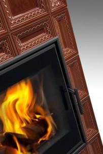 Kachlová kamna Hein BARACCA 7 TV - teplovodní výměník