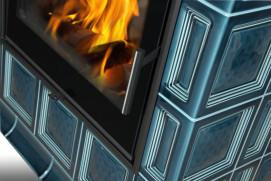 Kachlová kamna Hein BARACCA OU TV - teplovodní výměník
