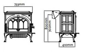 Krbová kamna Jotul F 600 - černý lak